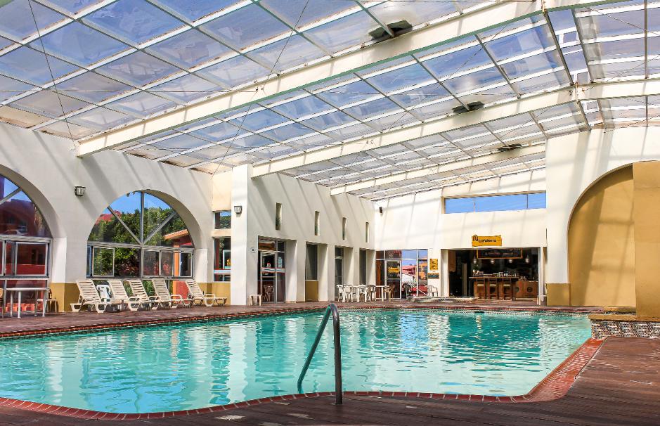 Roofed pool